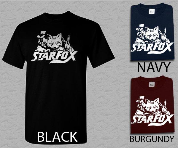 Men T Shirt Star Fox Retro Gamer Adult T-Shirt S - XXL
