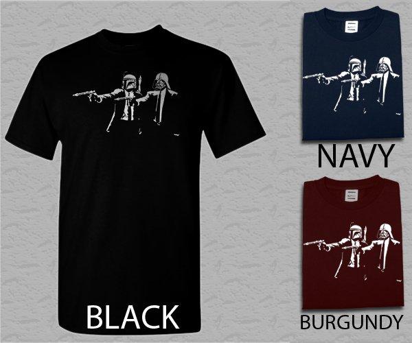 Men T Shirt STAR WARS PULP FICTION T Sizes SM-XXL FUNNY Hand Made Screen Print