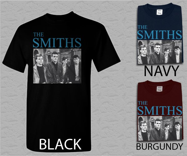 Men T Shirt The Smiths TMorrissey Johnny Marr Andy Rourke Mike Joyce Craig Ganno