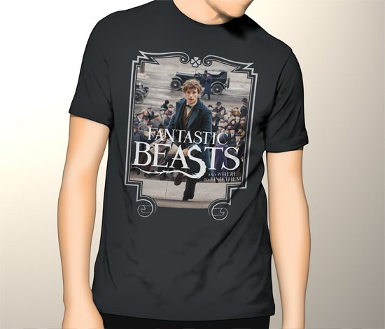 New Harry Potter Fantastic Beasts and Where to Find Them Men Black T-Shirt Tee