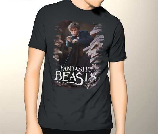 New Harry Potter Spin-Off Fantastic Beasts and Where to Find Them Men Black T-Shirt Tee