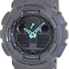 Casio Men's G-Shock Analog-Digital Watch GA-100C-8ACR, Grey/Neon Blue