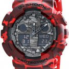 Casio G-Shock Camouflage Dial Series Red Resin Quartz Men's Watch GA100CM-4A