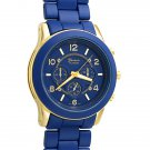 Blue and Gold Big Face Boyfriend Watch