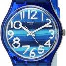 Swatch Unisex GN237 Blue Plastic Watch