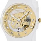 Swatch SUOZ148 sunray glam white rubber strap unisex watch NE