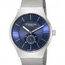 Stuhrling Original Men's Albion Swiss Quartz Ultra Slim Blue Dial Mesh Bracelet Watch