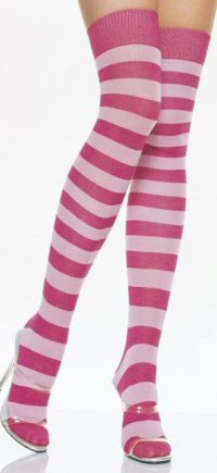 Lycra Acrylic Striped Thigh Highs
