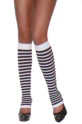 Nylon Striped Leg Warmers