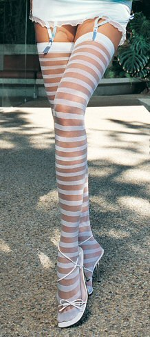 Sheer Stripe Thigh Highs