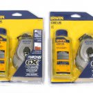Irwin Mach 6 6X Chalk Reel and Blue Chalk New 2-Pack