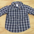 Carters Baby Boys 12 Months Blue Plaid Long Sleeve Button-down Shirt Carter's Boy's
