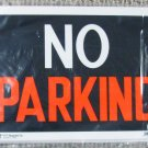 No Parking Signs 10-Pack Corrugated Plastic 10 x 14 White Black Orange Sign