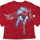 Marvel Boys 3T Spiderman Long Sleeve Tee Shirt Red Spider-Man T-shirt