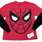 Marvel Boys M 5-6 Long Sleeve Spider-Man Tee Shirt Spiderman