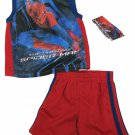 Marvel Baby Boys 12 Mos Spider-man Tank Top Shirt and Gym Shorts Set Boy's Spiderman