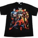 Marvel Comics Mens XL Avengers Character Tee Shirt Black T-shirt Extra Large Men's