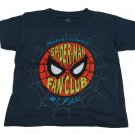 Marvel Comics Boys 2T Spider-man Fan Club Tee Shirt Navy Blue Boy's