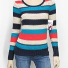 Roxy Juniors M After Class Stripe Thick Knit Pullover Sweater