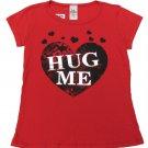 LA Teez Girls Size 6X Hug Me Heart Tee Shirt Red Short Sleeve T-shirt