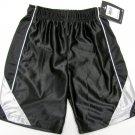 Nike Boys Size 4 Black Gym Shorts with Gray Stripes Basketball Athletic Shorts