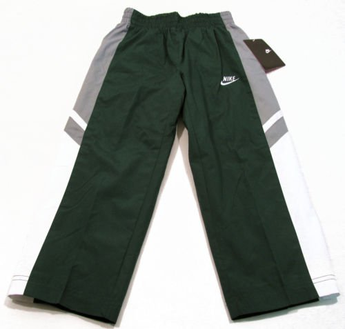 4ea85aa5decf Nike Boys Size 4 Green Windbreaker Pants with Gray and White Stripes  Athletic