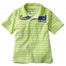 Sonoma Boys size 7 Green Stripe Polo Shirt South Beach Surf Short Sleeve