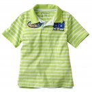 Sonoma Boys size 7X Green Stripe Polo Shirt South Beach Surf Short Sleeve