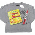 Always Grounded Boys XS 4-5 Funny Priority List T-shirt Gray Long Sleeve Tee