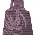 Z-Brand Girls Size 7 Purple Stripe Tank Top Shirt Racerback Girl's