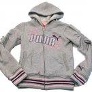 Puma Girls S Gray Hoodie Sweatshirt Girl's Small 7 Zip Jacket Pullover