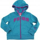 Puma Girls Size 2T Blue Hoodie Toddler Girl's Active Core Zip Hoodie Sweatshirt New