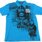 Zoo York Boys XL-20 Blue King Kong Polo Shirt Boy's Extra Large Short Sleeve