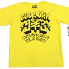 Zoo York Boys XL True East Tee Yellow T-shirt with Black Logo Boy's Extra Large