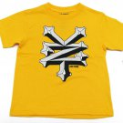 Zoo York Boys L 16-18 Yellow T-shirt with Black and White Logo Youth Boy's Tee Shirt