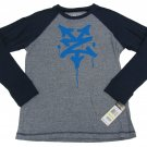 Zoo York Boys XL-20 Navy Blue Stripe Long Sleeve Raglan T-shirt Youth Tee Shirt Boy's Extra Large