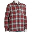 Vans Boys M Red Plaid Button-down Heritage Crusader Jacket Youth Boy's Medium