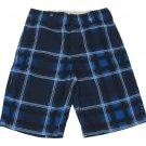 Zoo York Boys size 8 Blue Plaid Board Shorts Youth Boardshorts Boy's Swim