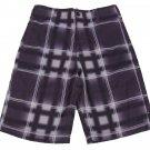 Zoo York Boys size 8 Purple Plaid Board Shorts Youth Boardshorts Boy's Swim
