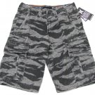 Hurley Mens size 28 Gray Camo Cargo Shorts Men's Distressed