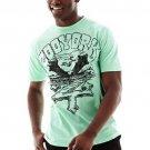 Zoo York Mens S Islander T-shirt Aqua Green Short Sleeve Tee Shirt with Black Logo Men's Small