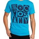 Zoo York Mens S Neon Night T-shirt Electric Blue Short Sleeve Tee Shirt Men's Small