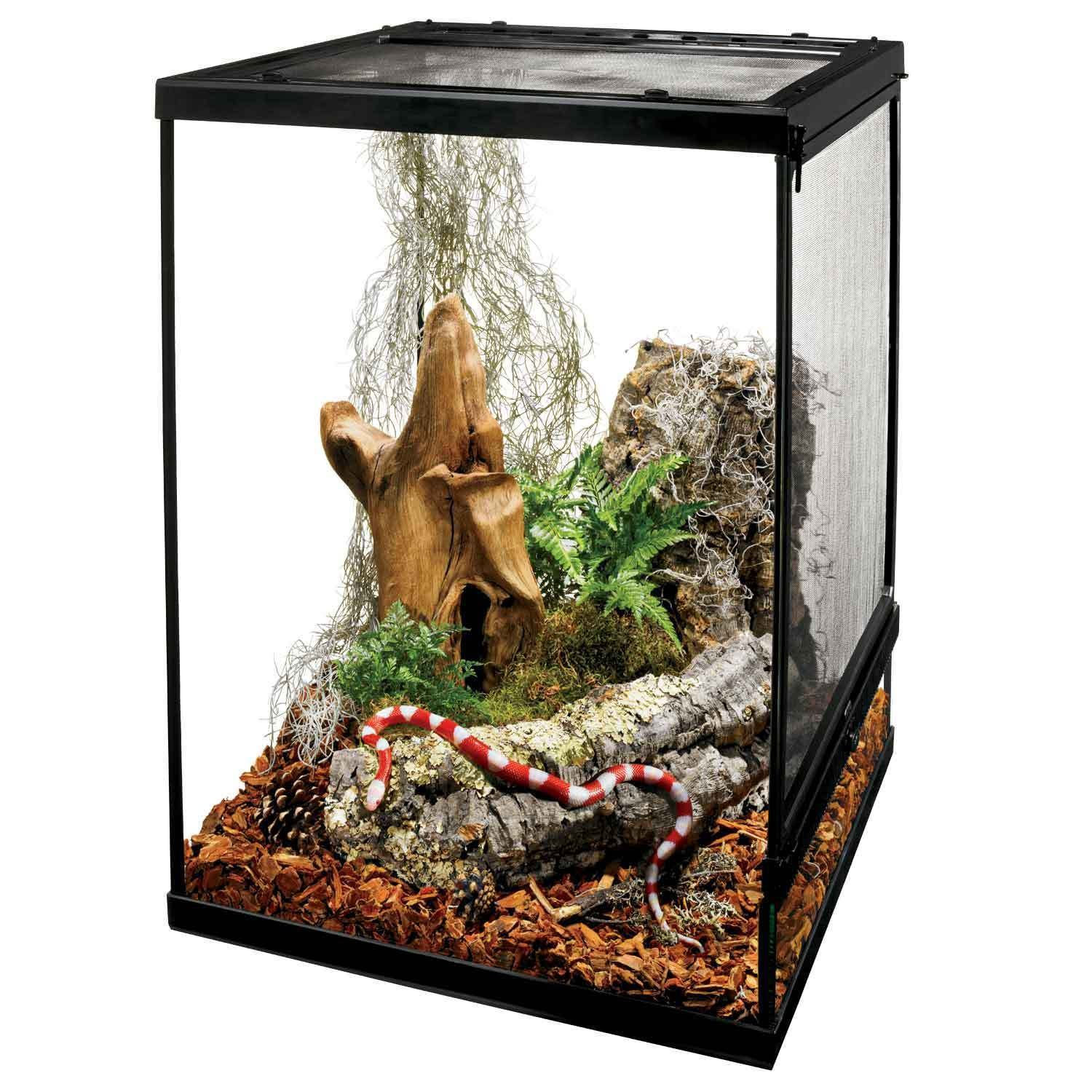 Zilla FLX Critter Cage Extra Large Glass Terrarium Tank New