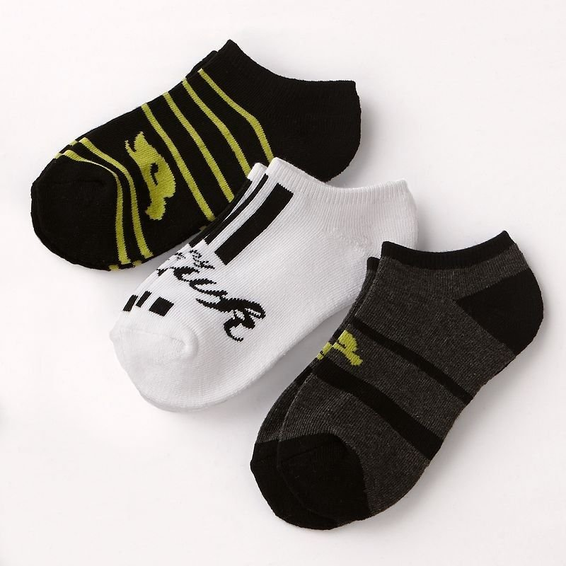 Tony Hawk Boys 3-Pack No Show Ankle Socks size 7-8 Black White Gray Youth Boy's Low Cut