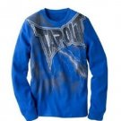 TapouT Mens L Celtic Storm Thermal Shirt Blue Long Sleeve Men's Large