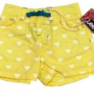 Lee Baby Girls 12 Months Yellow Heart Shorts