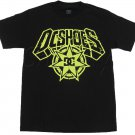 Dc Shoes Mens S Brookie Tee Shirt Black T-shirt with Yellow Logo Men's Small Short Sleeve