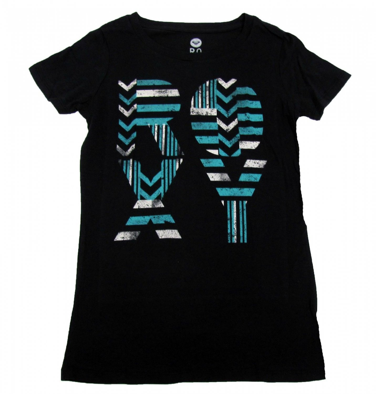 ROXY Juniors S Fortunes Told T-shirt Black Short Sleeve Tee Shirt Small