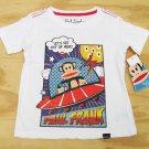 Paul Frank Boys 3T Julius Space Ship T-shirt White Short Sleeve Tee Shirt