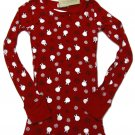 Next Era Couture Juniors S Penguin Snowflake Long Sleeve Printed T-Shirt Red Tee Small